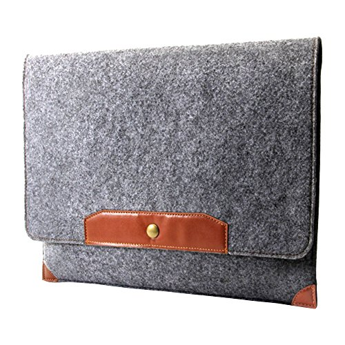"""Preisvergleich Produktbild 'GMYLE npl56005513.3""""Bezug braun, grau Tasche von Laptops–Taschen von Laptops (33,8cm (13.3), Tasche, braun, grau, Filz, Apple MacBook Pro 13)"""