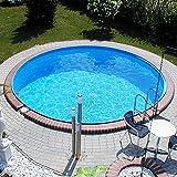 Stahlwandbecken 2,00x0,90m Einzelbecken Schwimmbecken rundform Pool