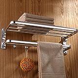 JIUCHANPIN Handtuchregal,Raum alu handtuchhalter Toilette gefaltet handtuchhalter Bad zahnstangen-A