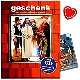 Geschenk - Das Erdmöbel-Weihnachts-Songbuch mit CD und bunter herzförmiger Notenklammer - Antwort auf die britische Christmas-Pop-Kultur