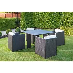 venice garden rattan effect cube dining outdoor patio. Black Bedroom Furniture Sets. Home Design Ideas