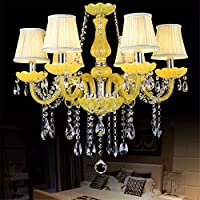 Il LED del PC moderni lampadari di cristallo giallo candela lampadario Lampade luci per la casa illuminazione per interni Lustri liquidi De Sala Lustre de Cristal,con