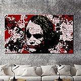 wjwiang Moderne Wand Graffiti Kunst Ölgemälde Joker Print Poster Auf Leinwand Wandkunst Bild Für Wohnzimmer Dekoration Geschenk 60X120 cm Kein Rahmen A