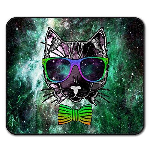 Raum Brille Tier Katze Mouse Mat Pad, Mode Rutschfeste Unterlage - Glatte Oberfläche, verbessertes Tracking, Gummibasis von Wellcoda