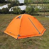 Risingmed Tente de Camping Anti UV Imperméable adaptant 2 ou 3 personnes – Convient au Camping, Randonnée, et Vacances, 4 Saisons Disponible (Orange)