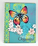 Monthly Bill Paying Organizer Hard Cover Budget Book with Pockets - Butterflies