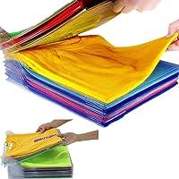 Nifogo Organisateur D'armoire - Closet Organizer T-Shirt Folder,Organiseur de Vêtements,Anti-humidité et Anti-Rides…