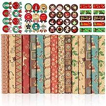 Presentpapper, Bst4U 15 ark med olika designmönster , 4 ark klistermärkeN