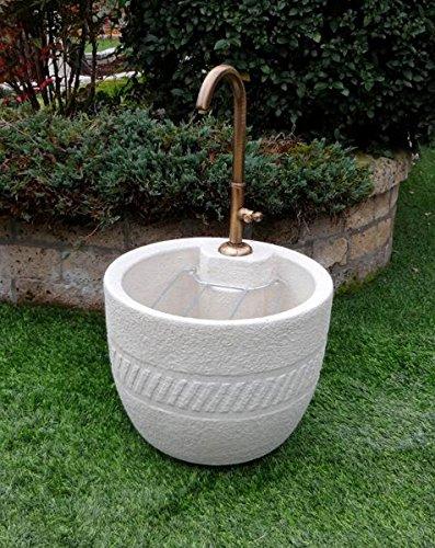 Fontanelle da giardino las vegas diam.cm54x91h grigio con 540rukit14