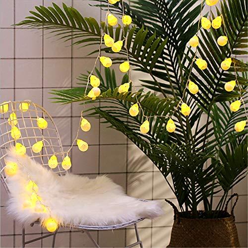 Ankamal Elec 1PC Pasqua LED String Lights, String Lights a Batteria Chick Shaped String Lights, per Giardino, casa, Patio, Matrimonio, Decorazioni pasquali (3m 20LED) - 6