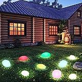 YUnnuopromi Aufladbare kieselstein LED Outdoor Rasen Garten Yard decrative Licht Lampe