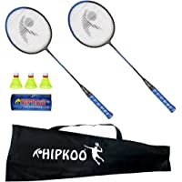 Hipkoo Sports HXBRSET_BL Grab Badminton Set with 3 Shuttlecocks Badminton Kit (Blue)