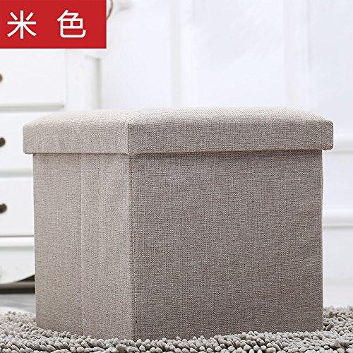 Preisvergleich Produktbild Der Stuhl besteht aus einem Stuhl, einem Quadrat falten Bettwäsche, ein Hocker, ein Stuhl, eine Aufbewahrungsbox und eine sich verändernde Hocker, Beige