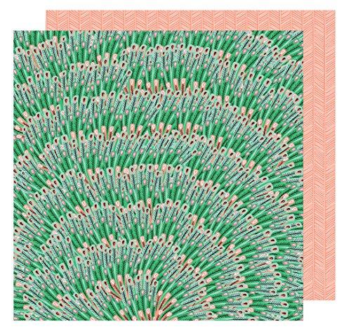 AMY Tan 30,5x 30,5cm Papier Bloom Big Time (25Pack), 12-x-12-inch