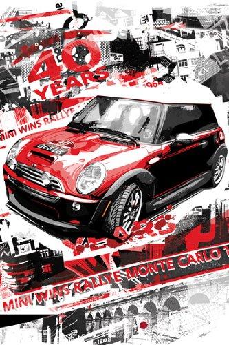 mini-cooper-gana-rallye-monte-carlo-40-anos-por-baz-pringle-art-print-poster