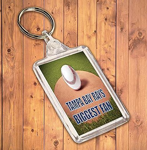 Tampa Bay Rays Biggest Fan Baseball–Porte-clé–Cadeau d'anniversaire/cadeau