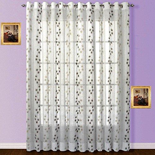 Fabutex Tissue embroidered shear window curtain
