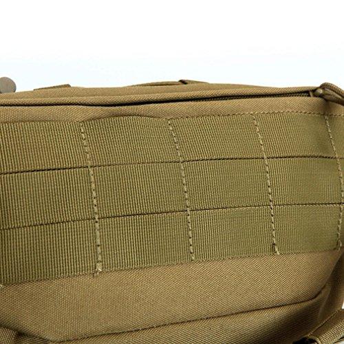 F@Tasche esterne di uomini e donne, petto tattico militare appassionati Pack, sacchetto di nylon impermeabile, viaggi e tempo libero equitazione borsa, Digital Camo, camouflage borsa borraccia , cp ca city number