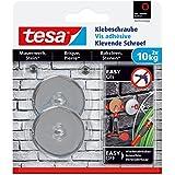 Tesa 77909-00-00 Lot de 2 Vis adhésives rondes pour brique 10 Kg