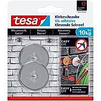 Tesa adhesivas Tornillo para muros y piedra, potencia de sujeción 10kg, 2unidades, 77909-00000-00