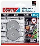 tesa Klebeschraube für Mauerwerk und Stein, Halteleistung 10 kg, rund, 2 Stück