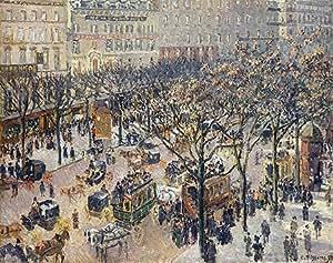 Pissarro (Boulevard des Italiens-matin de la lumière du soleil, 1897 Box Prints Reproduction (15,9 x 20,1 en) (40,4 x 51 cm)