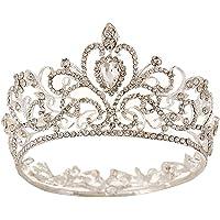 Treestar - Tiara nuziale, accessorio per capelli da matrimonio o per ambienti di lusso argento11
