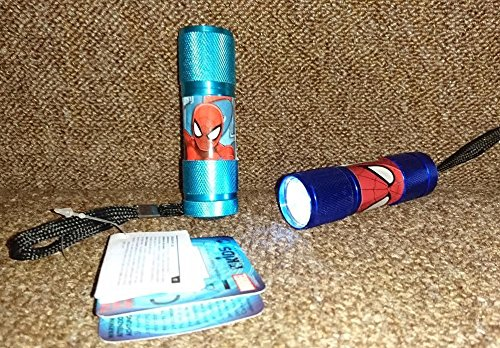 Image of SPIDERMAN MARVEL LED TORCH FLASHLIGHT ULTIMATE SPIDER-MAN FUN FOR KIDS CHILDREN