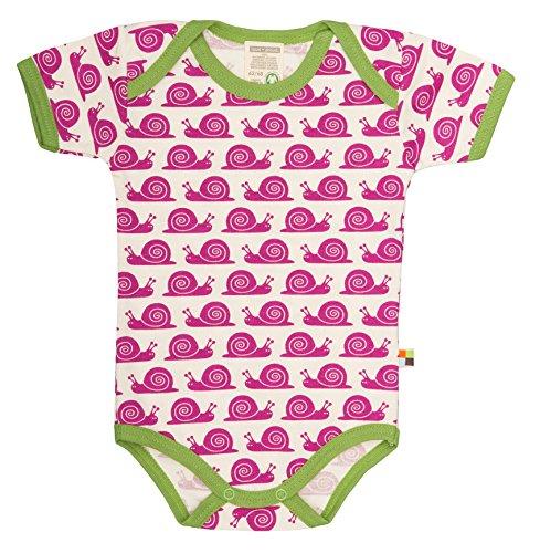 loud + proud Unisex - Baby Body 201, Gr. 80 (Herstellergröße: 74/80), Violett (Fuchsia fu)
