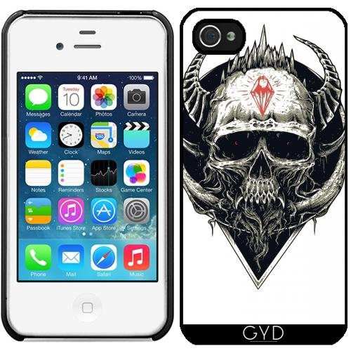 Leder Flip Case Tasche Hülle für Apple iPhone 6/6S - Schädel Horror Gotik Halloween by WonderfulDreamPicture Starre Kunststoff