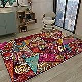 Ommda Tappeto Moderno Salotto Orientali Antiscivolo Home Tappeti Etnici Indiani Colorati Design Lavabile,SDDT-CK-1,80x120cm