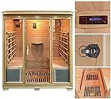 Home Deluxe – Infrarotkabine – Bali XL – Keramikstrahler – Holz: Hemlocktanne - Maße: 175 x 120 x 190 cm – inkl. vielen Extras und komplettem Zubehör