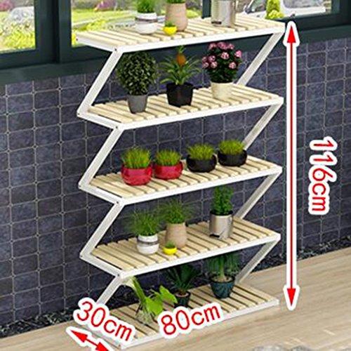ZCJB Etagères de plantes Balcon Floorends Fer Multicouche Fleur Racks Style Européen Scindapsus Fleur Pot Rack Salon Intérieur Multifonction Assemblée Fleur Étagère (taille : 116cm)