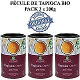 Fécule de tapioca bio Originale Pure Pack 3x200g Arche | Fécule de manioc bio sans gluten PACK - Amidon de manioc poudre pure - 3x200g