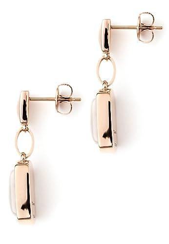 Tamaris Femme Acier inoxydable #Stainless Steel Blanc Œil de Chat FASHIONEARRING: : Bijoux