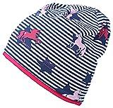 Fiebig - Kindermütze Beanie Sommermütze Jerseybeanie Mädchenmütze Mütze - 87054 (Blau, 49 / 51)