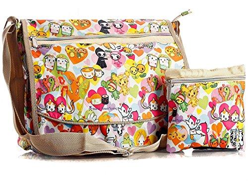 Big Handbag Shop - Sacchetto unisex Messenger 825 - Spring Flowers