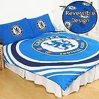 Chelsea FC pulso Reversible juego de cama (3piezas, funda de edredón y 2x fundas de almohada