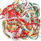 Luxbon Nastrini a tema Natalizio, 10x 2metri, multiuso, per il fai da te, Decorazione per cucire/regali/feste/matrimoni