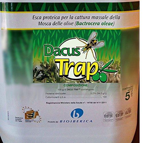 DACUS TRAP Esca proteica mosca delle olive BACTROCERA OLEAE TANICA 5L