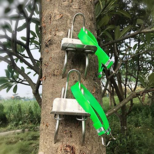 HoneybeeLY Ramponi 1 Paio di spuntoni rampicanti per Alberi speroni rampicanti Acciaio Inossidabile Accessorio per Arrampicata e Tree Climbing