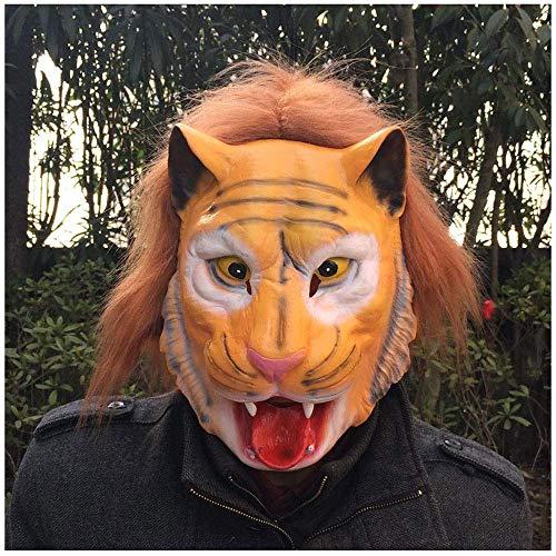 YaPin Halloween Tiger Maske Erwachsene Tierkreis Tier Kopfbedeckungen Kinder Cos Party Lustige Tier Requisiten