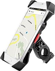 Grefay Anti-Shake Fahrradhalterung Motorrad Handy-Halter Universal Radsport Verhütung Von Abstürzen Fahrrad-Lenker Handyhalter Wiege Klammer Mit 360 Drehen Für 3,5-6,5 Zoll Smartphone GPS Andere Geräte