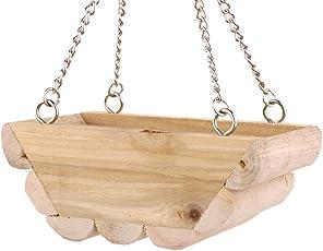 Sharplace 2pcs Holz Hängematte Bett Schaukel für Maus Papagei Vogel Sittich Katze Hamster Käfig Klettern Spielzeug