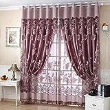 Regard Natral Pivoine Floral Edal Romantique Moderne Tulle Salon draperie cantonnières fenêtre