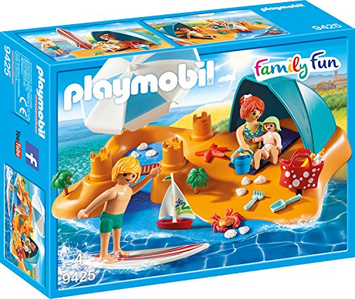 PLAYMOBIL Family Fun 9425 Familie am Strand, Ab 4 Jahren