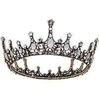 ysister Corona da Donna, Corona da Sposa Vintage diadema Fascia per Capelli Principessa barocca per Donna Ballo di fine…