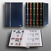 Prophila Lighthouse stockbook stamp album (new) 60 white sides, blue cover