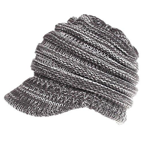 9cb1c2021a5 Sombrero de invierno prendas de punto de la mujer Baggy Warm Warm Winter Wool  Knit Warm
