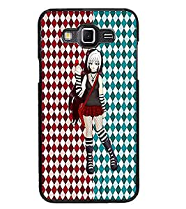PrintDhaba Cute Girl D-3500 Back Case Cover for SAMSUNG GALAXY GRAND 3 (Multi-Coloured)